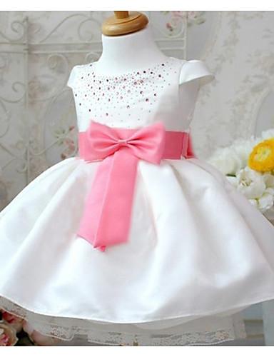 Mädchen Kleid Ausgehen Lässig/Alltäglich Patchwork Baumwolle Sommer Kurzarm