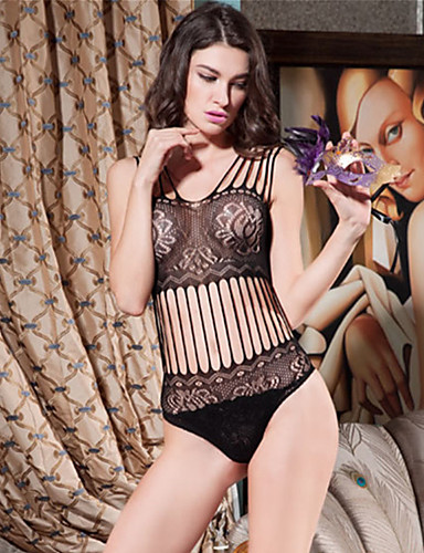 SKLV Women Nylon/Spandex Cut Out Lace Lingerie/Ultra Sexy/Teddy Nightwear