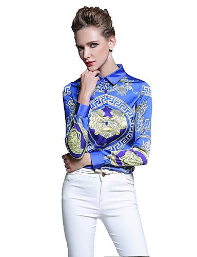 نسائي قطن قميص قبعة القميص - النمط الصيني طباعة عمل
