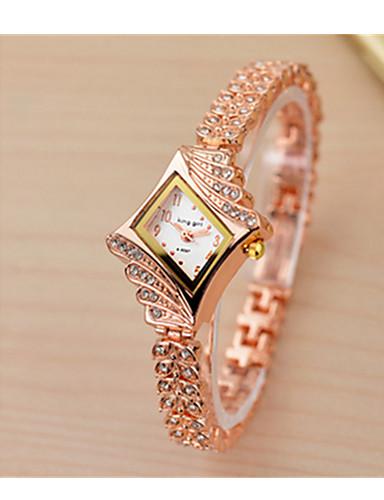 a05872309e88 Mujer Reloj Pulsera Simulado Diamante Reloj Cuarzo   Acero Inoxidable Banda  Cosecha Blanco Dorado Dorado Blanco. Foto de Proveedor