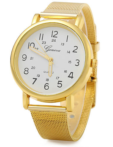 JUBAOLI Homens Quartzo Relógio de Pulso Relógio Casual Lega Banda Casual Elegant Fashion Dourada