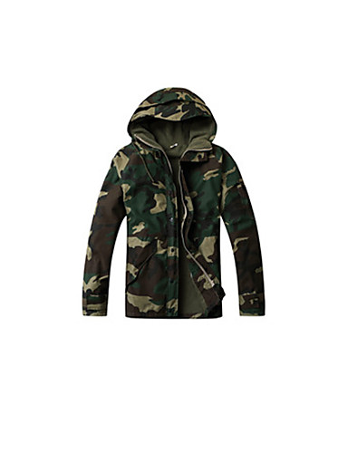 Men's Women's Unisex Camouflage Hunting Jacket Outdoor Quick Dry Ultraviolet Resistant Softshell Jacket Top Winter Fleece Camping / Hiking, Fishing, ...