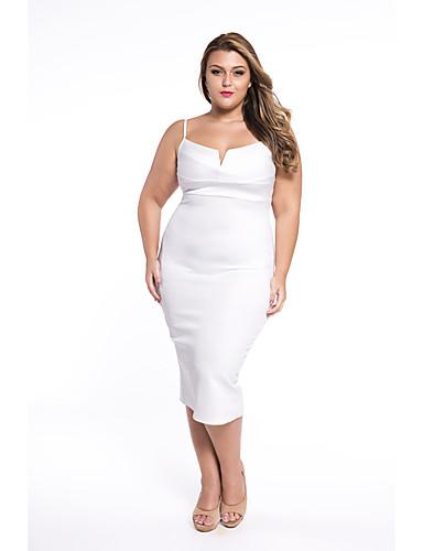 Bayanlar Splandeks / Polyester Diz-boyu Kolsuz Askılı Bayanlar Elbise