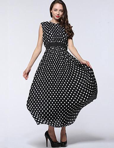 2baeeaf845 Mujer Gasa Corte Swing Vestido Casual Diario Tallas Grandes Simple