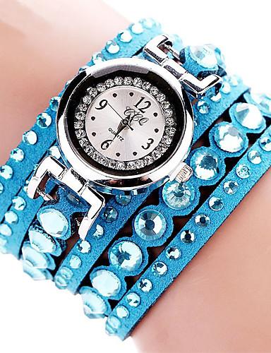 Mulheres Bracele Relógio Relógio de Pulso Quartzo Preta / Branco / Azul imitação de diamante Analógico senhoras Amuleto Brilhante Casual Boêmio - Marron Vermelho Rosa claro
