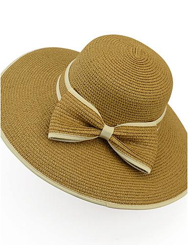 3b2ccd7305c07 Mujer Verano Vintage Casual Paja Sombrero de Paja Sombrero para el ...
