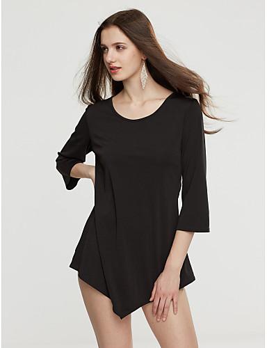 Damen Solide T-shirt Ringer-Rücken-Kleid Nylon