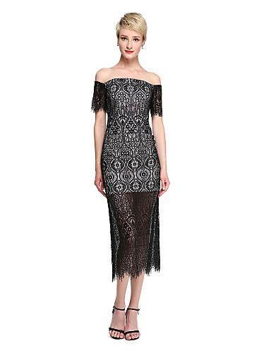 Tubinho Longuette Renda Reunião de Classe Vestido com Renda de TS Couture®