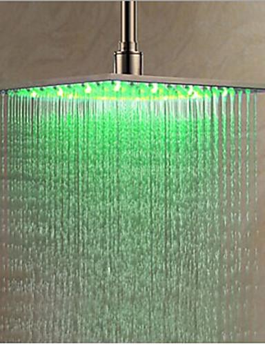abordables Pommeaux de Douche LED-Moderne Douche pluie Chrome Fonctionnalité - LED, Pomme de douche