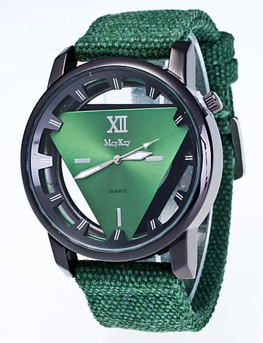 Homens Quartzo Relógio de Pulso Chinês / Tecido Banda Casual Legal Preta Branco Vermelho Verde Rosa Azul Marinho