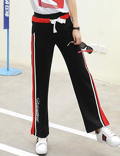 Dámské Jednoduchý Mikro elastické Kalhoty chinos Kalhoty Rovné High Rise Jednobarevné