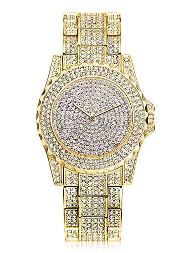 Mulheres Quartzo Relógio Pavé Simulado Diamante Relógio Único Criativo relógio Relógio de Pulso Relógio Elegante Chinês Com Strass / Aço