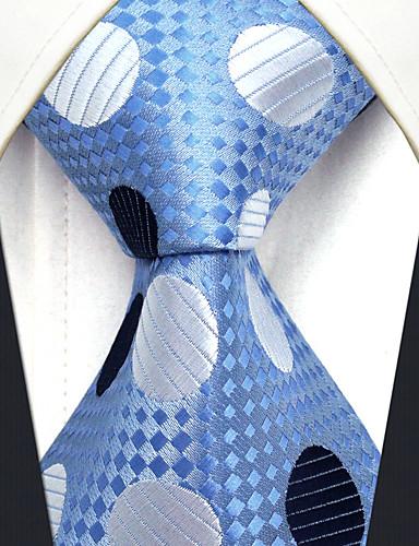 trabalho bonito do partido do vintage dos homens ocasional rayon gravata polka dot bloco de cor jacquard, básico