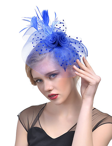 Women's Hat / Solid Color / Mesh Acrylic Hair Clip