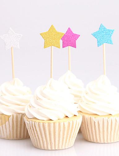 كعكة توبر كلاسيكيClassic Theme أوراق البطاقة زفاف / الذكرى السنوية / عيد ميلاد مع 24 pcs OPP