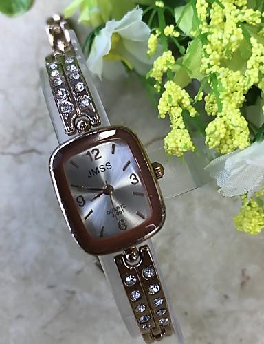 Mulheres Quartzo Simulado Diamante Relógio Relógio de Pulso Bracele Relógio Chinês / imitação de diamante Lega Banda Casual Fashion Ouro