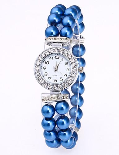 cheap Bracelet Watches-Women's Bracelet Watch Quartz Pearl White / Red / Pink Casual Watch Analog Ladies Elegant - Red Pink Blue Leopard One Year Battery Life / Jinli 377