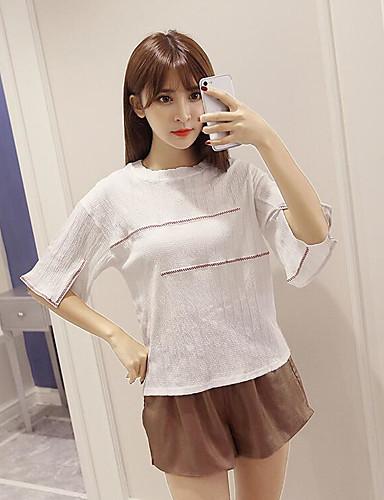 Damen Solide - Freizeit T-shirt / Sommer