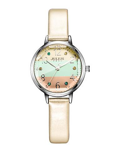 Dámské Módní hodinky Náramkové hodinky japonština Křemenný Voděodolné Kůže Kapela Třpyt Tečka Bílá Modrá Orange Šedá Růžová