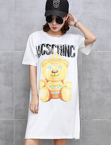 Damen Baumwolle T-shirt Druck