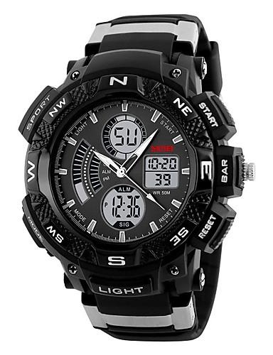 Homens Digital Relogio digital Relógio de Pulso Relógio Esportivo Chinês Calendário Cronógrafo Silicone Banda Amuleto Criativo Relógio