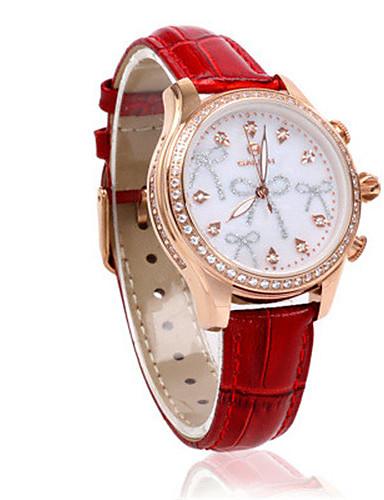 Dámské Sportovní hodinky Módní hodinky Křemenný Krokoměr Pravá kůže Kapela Přívěsek Červená