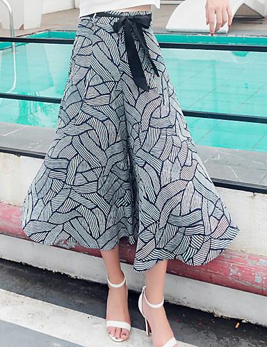 Dámské Cikánský Neelastické Volné Volný Kalhoty chinos Kalhoty High Rise Léto