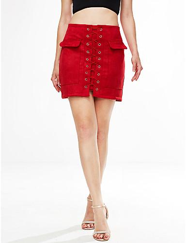 女性用 ストリートファッション お出かけ ボディコン スカート - ソリッド