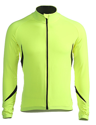 Jaggad Men s Long Sleeve Cycling Jersey Cycling Jacket Solid Color Bike  Jacket Jersey Top Thermal   Warm Windproof Fleece Lining Sports Winter  Polyester ... 65213fab5