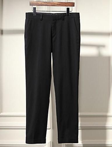 Pánské Jednoduchý Mikro elastické Kalhoty chinos Kalhoty Rovné Mid Rise Jednobarevné