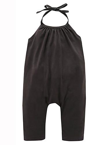 Mädchen Zeichentrick Solide / Modisch Ärmellos Kleid / Baumwolle