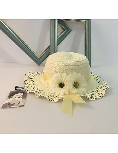 Para Niña Primavera Otoño Verano Bonito Casual Detalle Decorativo Sombreros  Hilo Sombrero para el sol 8648fb4cc65