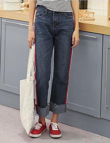 Damen Einfach Mittlere Hüfthöhe Mikro-elastisch Kurze Hosen Schlank Hose einfarbig