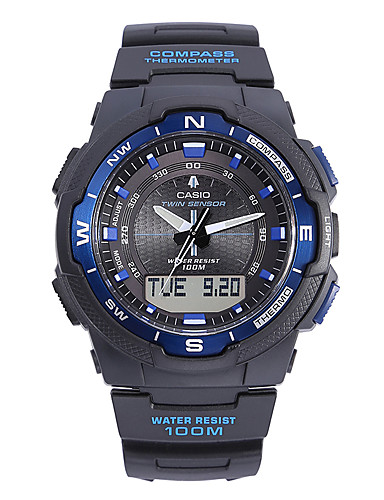 Casio Pánské Sportovní hodinky Módní hodinky Náramkové hodinky japonština Křemenný Kalendář Voděodolné Stopky Velký ciferník Pryž Kapela