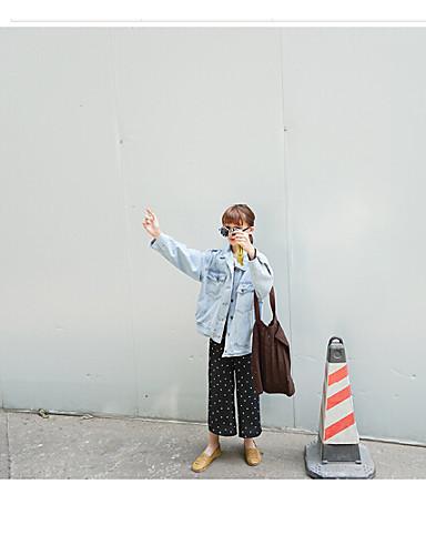 Damen Jeansjacke,Rundhalsausschnitt Lange Ärmel