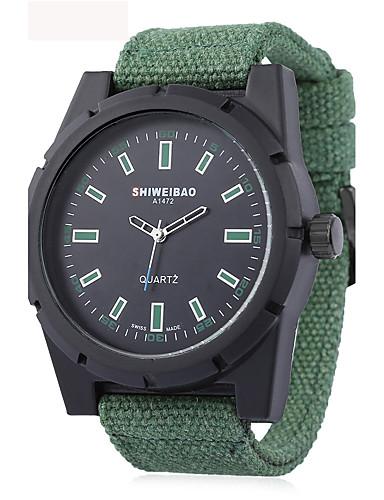 Homens Quartzo Relógio de Pulso Relógio Militar Relógio Esportivo Chinês Impermeável Tecido Banda Amuleto Vintage Criativo Casual Relógio