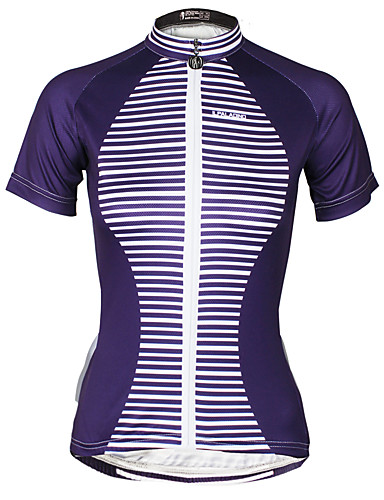 cheap Cycling Clothing-ILPALADINO Women's Short Sleeve Cycling Jersey Bike Jersey Top Quick Dry Ultraviolet Resistant Reflective Strips Sports Polyester 100% Polyester Mountain Bike MTB Road Bike Cycling Clothing Apparel