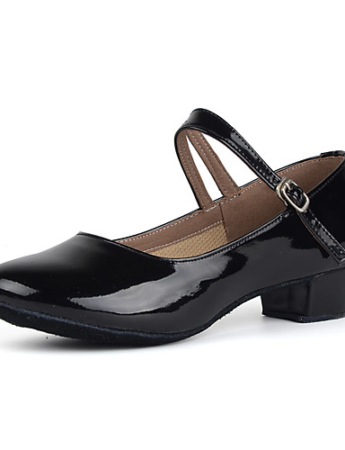 povoljno Cipele za ples-Žene Lakirana koža Moderna obuća Štikle Niska potpetica Moguće personalizirati Crn / Pink / Crvena / Vježbanje / EU39