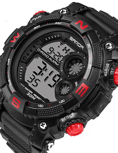 Bărbați Piloane de Menținut Carnea Ceas de Mână Uita-te inteligent Ceas Militar  Ceas Sport Calendar LED Iluminat Cronometru Digipas