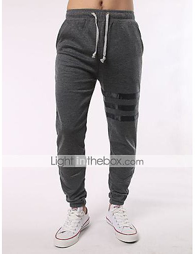 Pánské Větší velikosti Upnuté Jogger Tepláky Volný Kalhoty - S proužky, Barevné bloky
