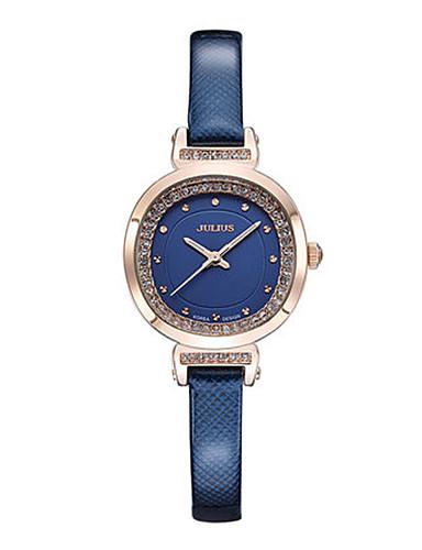 Dámské Módní hodinky japonština Křemenný Voděodolné Kůže Kapela Černá Bílá Modrá Červená Hnědá