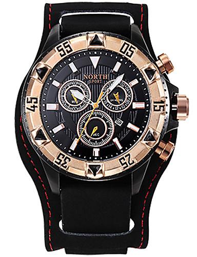Homens Quartzo Relógio de Pulso Relógio Militar Relógio Esportivo Japanês Calendário Cronógrafo Impermeável Mostrador Grande Cronômetro