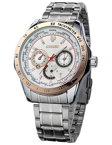Pánské Náramkové hodinky Hodinky k šatům Módní hodinky Hodinky na běžné nošení čínština Křemenný Kov Kapela Přívěšky Elegantní Cool