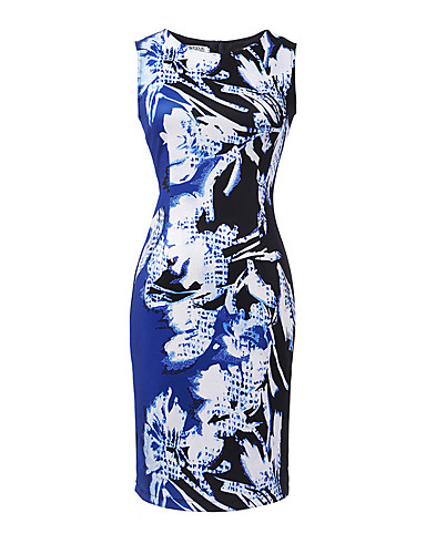 Women's Bodycon Dress - Graphic Print High Rise / Summer / Floral Patterns