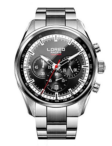 Pánské Sportovní hodinky Módní hodinky Křemenný Voděodolné Nerez Kapela Černá Stříbro