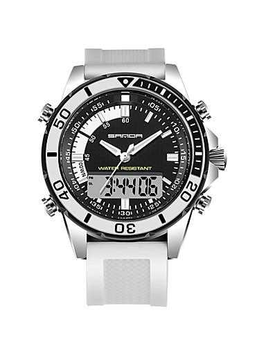 SANDA Homens Relógio de Pulso Relógio inteligente Relógio Militar Relógio de Moda Relógio Esportivo Japanês Digital LED Noctilucente