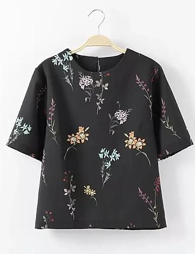 Damen Druck Sexy Einfach Street Schick T-shirt,Rundhalsausschnitt Sommer Kurzarm Baumwolle Dünn Mittel