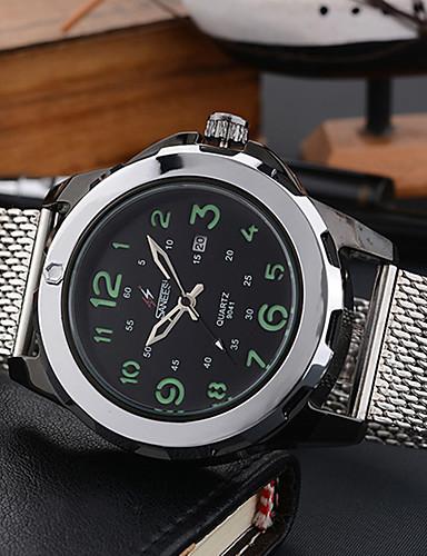 Pánské Módní hodinky Náramkové hodinky Unikátní Creative hodinky Hodinky na běžné nošení Křemenný Kalendář Velký ciferník Slitina Kapela