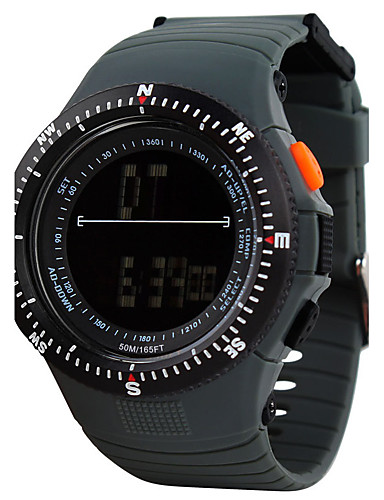 Men's Sport Watch / Skeleton Watch / Military Watch Chinese Alarm / Calendar / date / day / Chronograph Silicone Band Charm / Luxury / Casual Multi-Colored / Water Resistant / Water Proof / LCD
