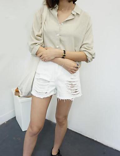 Dámské Jednoduchý strenchy Kraťasy Kalhoty Široké nohavice Mid Rise Jednobarevné